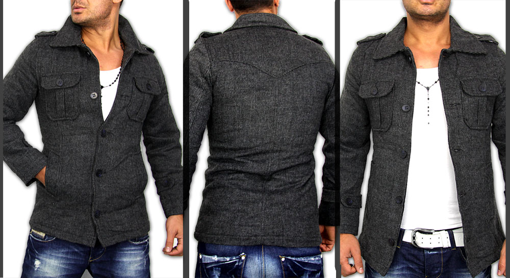 2012 new season slim fit herren kurz mantel jacke top. Black Bedroom Furniture Sets. Home Design Ideas