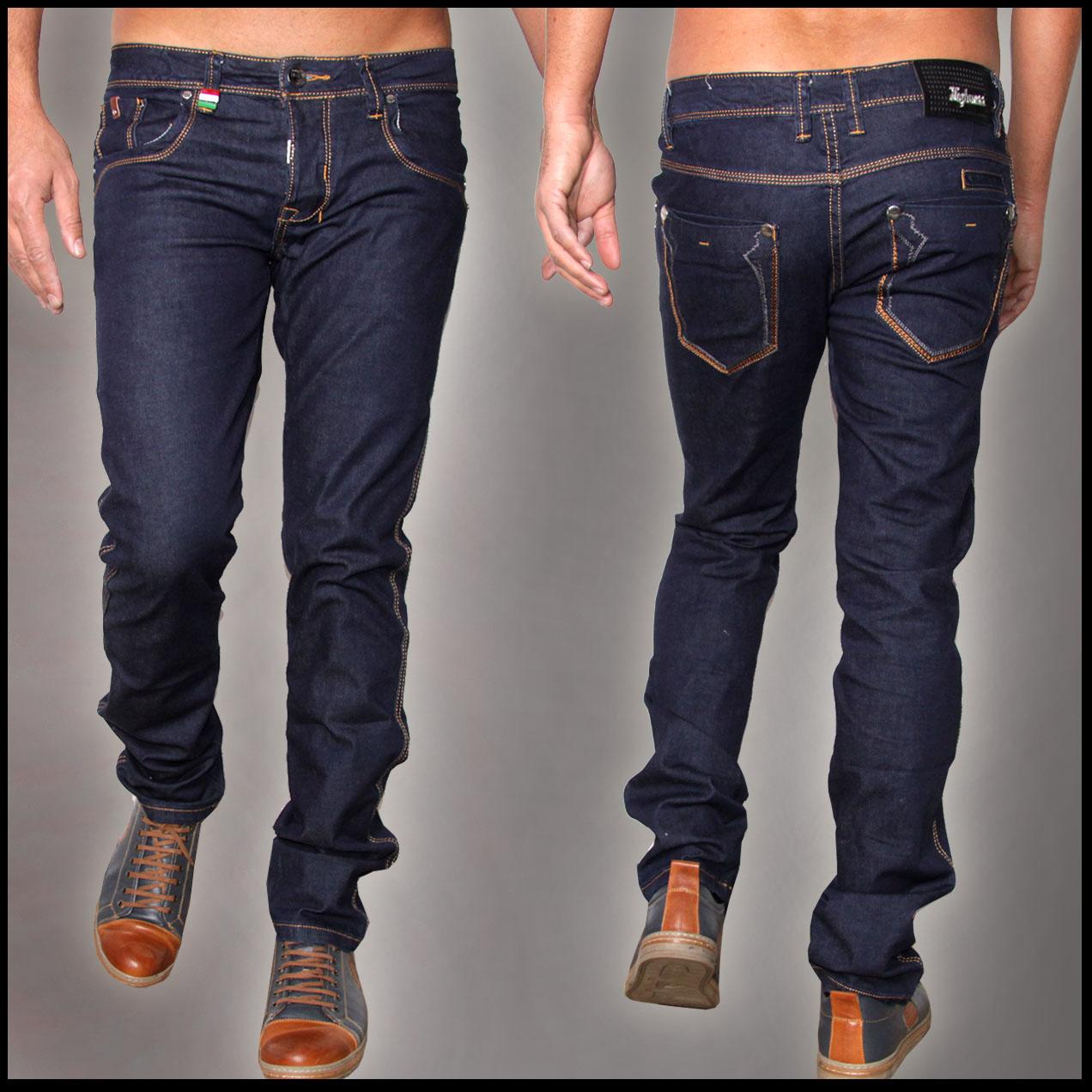 tazzio slim fit herren styler look stretch jeans hose denim 16533 blau 33 32. Black Bedroom Furniture Sets. Home Design Ideas
