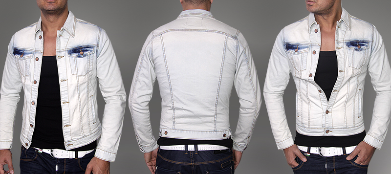 new season aktuelle sexy herren jeans jacke mit waschung. Black Bedroom Furniture Sets. Home Design Ideas